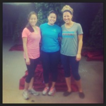 Teresa, Christine, and Jena volunteer with Chicago Youth Programs during their one day serve-a-thon.
