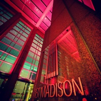 181 West Madison was lit pink in honor of Breast Cancer Awareness Month.